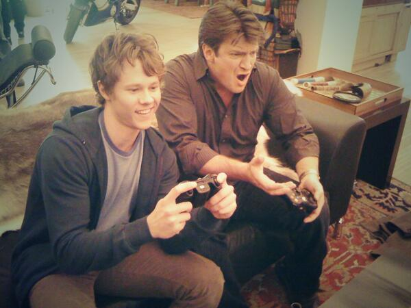 #tbt playing #Halo with @NathanFillion between takes while on the set of #Castle ...late 2010:) http://t.co/ZNwLwQXHdU