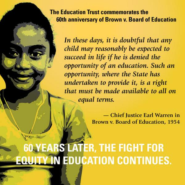 Infographic: 60 years later, the fight for equity in education continues. http://t.co/ANwgodxPGI
