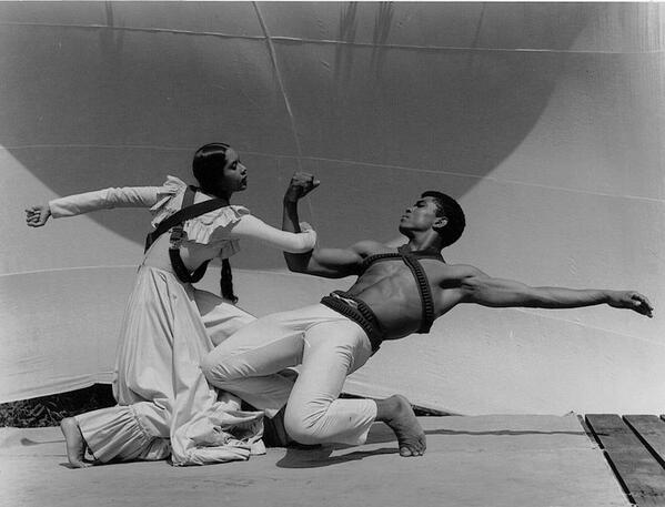 #TBT This beautifully strong image of @CarmenDances and Alvin Ailey was taken by John Lindquist at the Pillow in 1961 http://t.co/cXqwjeZ15j