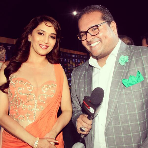 Madhuri & Moi! This was a very special moment in my life. #ANOKHI @MadhuriDixit @ANOKHI_Media http://t.co/qFYu6H0ikJ