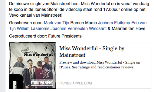 "@TweetMainStreet ""Miss Wonderful"" topsingle vind ik! http://t.co/Bfr7iyAjMa"