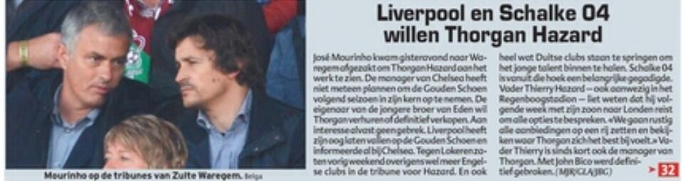 Liverpool & Schalke chase Thorgan Hazard after Chelsea confirm hes not a 1st team squad player [HLN.be]