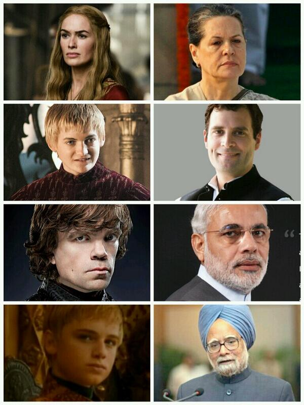 LOL RT @Goddamittt: Game of Thrones of Indian Politics: http://t.co/B4NkiidQK4