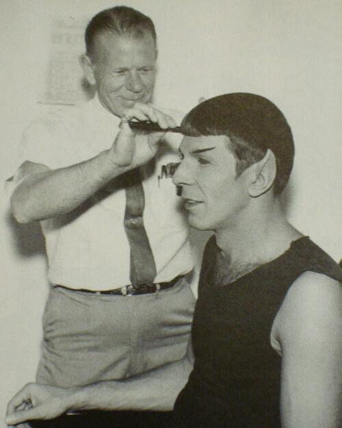 Spock getting a trim http://t.co/UIgsAMALY6