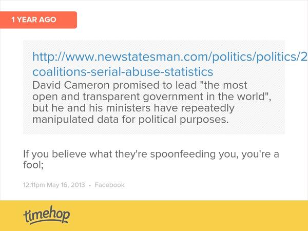 One year ago today I linked to this regarding abuse of stats by the Government.  They haven't improved have they?... http://t.co/gHmj4v6PXr