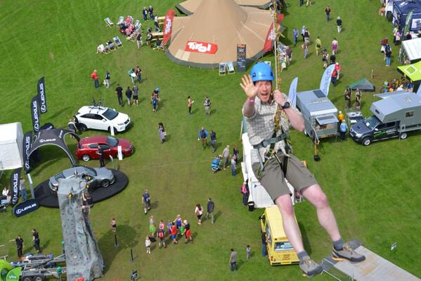 """@MyOutdoors: @PhilOutdoors tries out the @KeswickFestival zip wire http://t.co/hiCJK0j3i5"""