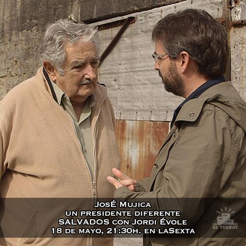 """Si tuviera asistentes personales """"no podría levantarme de noche en calzoncillos"""" Jose Mujica, presidente de Uruguay http://t.co/Qqd6yS5cKq"""