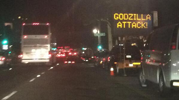"""@NBCNightlyNews: Hacked San Francisco traffic sign warns of 'Godzilla Attack' http://t.co/raDIekiS6Q @nbcbayarea http://t.co/h9KFRsQeYV"""