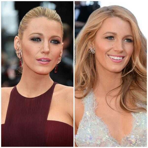 Whether hair up or hair down, #BlakeLively dazzles us all on the #Cannes2014 red carpet. RT if you agree! http://t.co/pjfGSSbplh