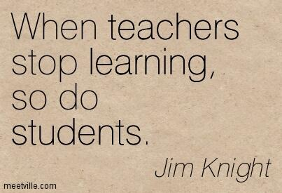 A teacher who isn't an avid learner is worse than useless. He/she is a negative example. #edchat http://t.co/gYurfsxqOM