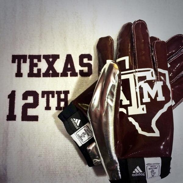 1 follower will win @AggieFootball gloves. RT and follow @AggieAthletics by 6pm for a chance to win #12thMan http://t.co/Kqtg7bAnzQ
