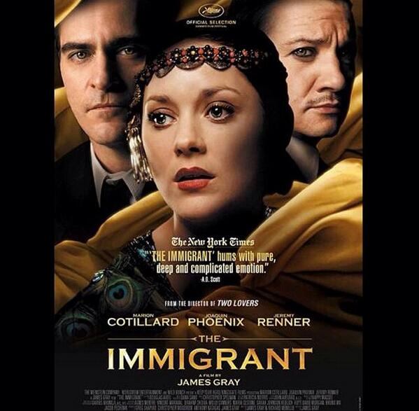 If you are in LA or NY and looking to see a gorgeous movie, check out #TheImmigrant written & directed by #JamesGray http://t.co/mNSMosVgsa