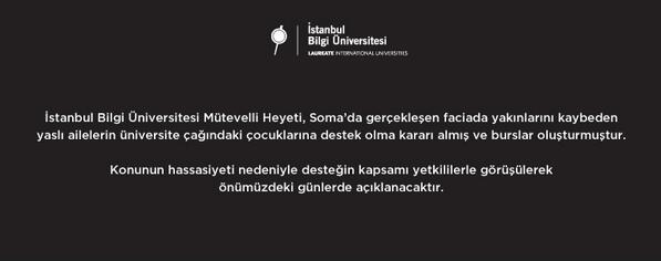 İstanbul Bilgi Üniversitesi Mütevelli Heyeti Soma'ya destek duyurusudur. http://t.co/EzyLD7VIa4