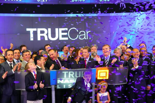 The future of car buying is here! TrueCar now trading on #NASDAQ under ticker $TRUE. #TrueIPO #IPO http://t.co/JcEuhQ9uQO