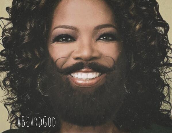 Everybody gets a beard!!! #BeardGod @Oprah http://t.co/hPTqicJWWn