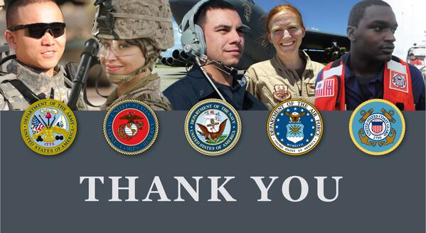 There's only one thing we want to say to every man and woman who serves today: THANK YOU! #ArmedForcesDay http://t.co/ug9bb8UfW7