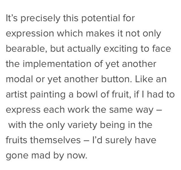 Remember when @fat said this about code as art? It was good. http://t.co/YR3uK5kXsJ