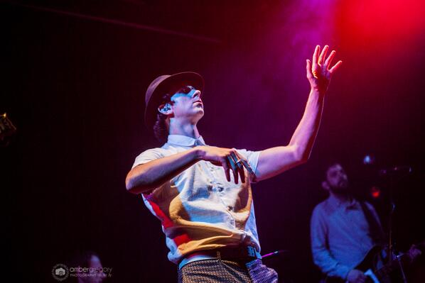 . @paulsmithmusic (@maximopark) captured in a very Paul-like moment of dance, last night in San Francisco :) http://t.co/Ht5w6CQkTg