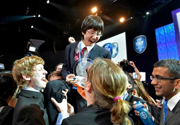 Congratulations! Nathan Han of Boston wins 1st place at #IntelISEF http://t.co/qqI8UFtLv9 http://t.co/9sWqQUNRX4
