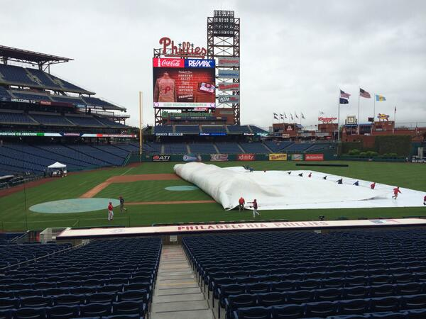 Tarp is coming off & Ashburn Ally opens @ 5:05!  Game time still set for 7:05.  All other gates open 5:35. #Phillies http://t.co/5u21W5Dqg8