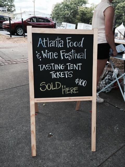 If you didn't get tickets to @ATLFoodAndWine they're selling tickets for tasting tent for $100 at door. #AFWF14 http://t.co/kcZSiPtexL