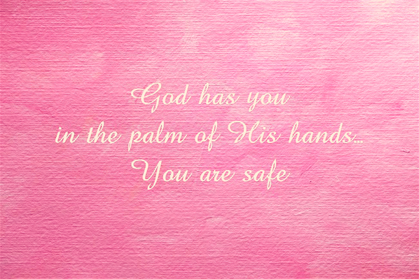 God has you in the palm of His hands. #holyspirit #god http://t.co/yuNidf6Iot