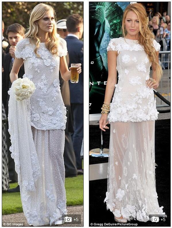 Who wore @chanel best? @delevingnepoppy\'s wedding dress vs. blake ...