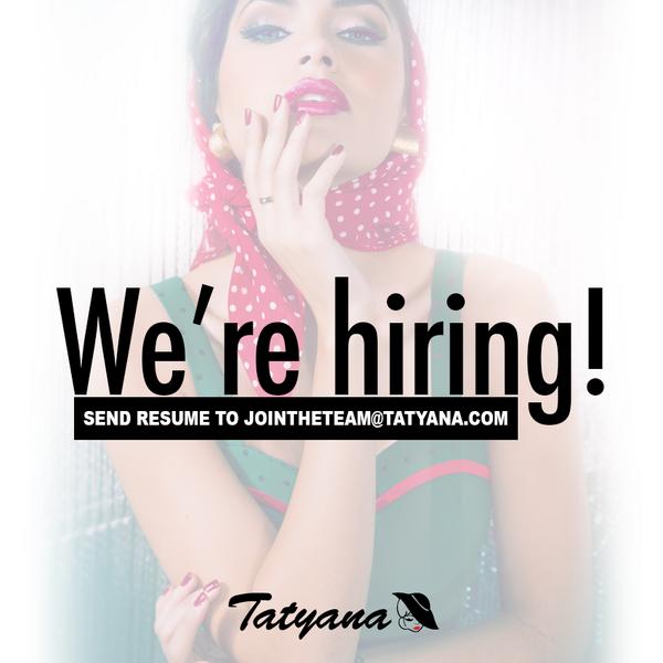 ATTN FASHION LOVERS! We're #hiring in Boston, New York & Arcadia, California. Send resume to jointheteam@tatyana.com! http://t.co/WyRpSNpB0x