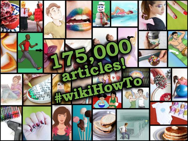 wikiHow just reached 175,000 articles. Congrats to all our contributors! http://t.co/fPQ9IOySy5