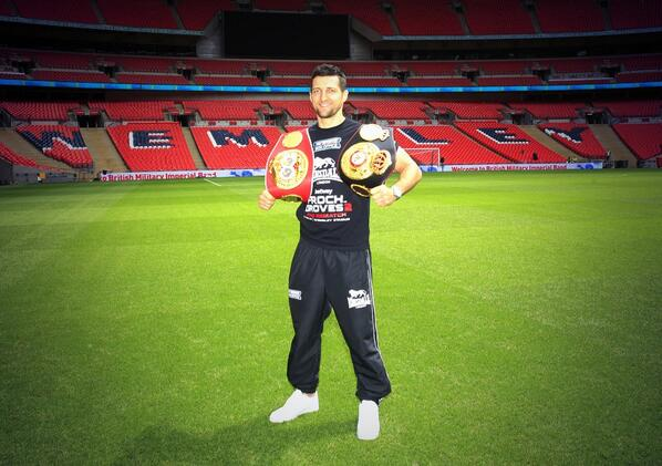 Wembley Stadium... What an Unbelievable place to defend my World Titles! THANK YOU for all your support #andstill http://t.co/TCVTb9H0BL
