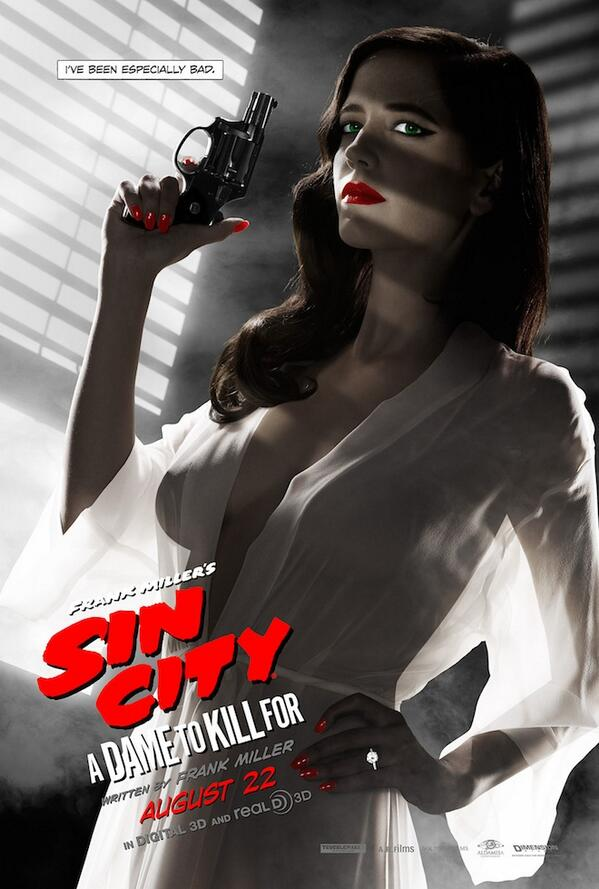 This Eva Green Sin City A Dame to Kill For poster just got banned and won't be seen at movie theaters. That's a shame http://t.co/9OqTfvbIMM