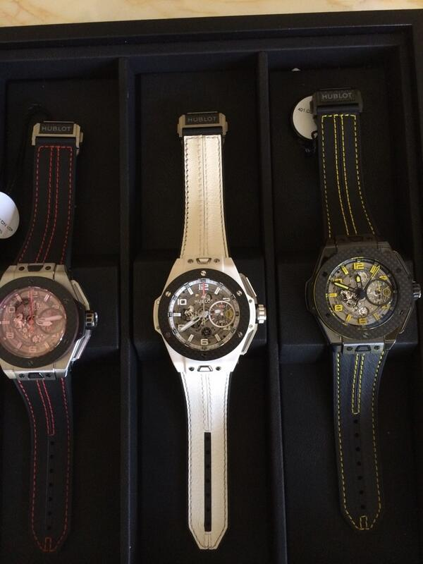 Ferrari @Hublot pieces. White for the lads? Sign me up. #couture2014 http://t.co/L3To7u3wlH