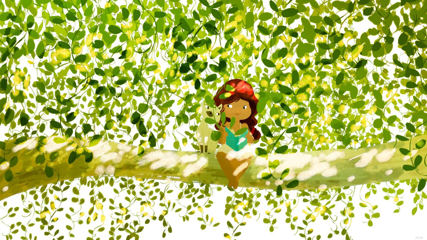 Up a tree!  #pascalcampionart. http://t.co/6lzl5NFs4M