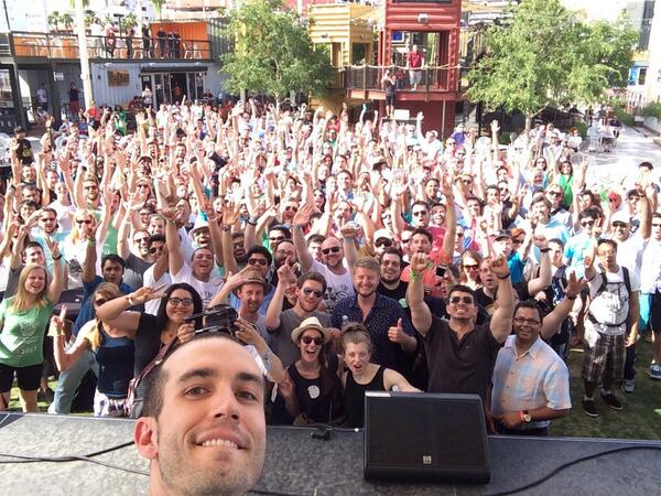 Most retweeted sweaty selfie ever #upsummit http://t.co/v0tGTpYZJe