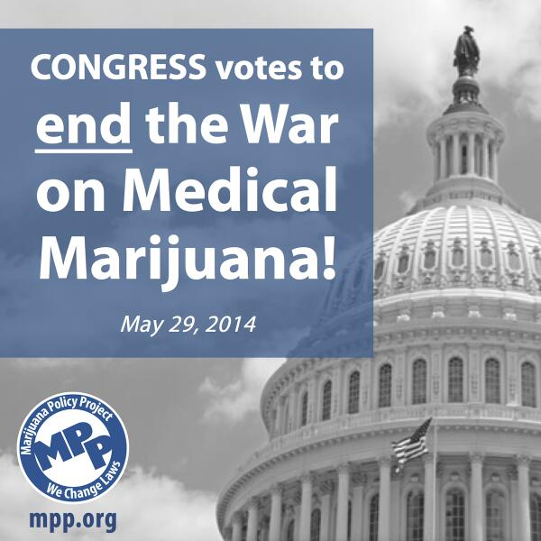 MT @MarijuanaPolicy: BREAKING NEWS! #Congress PASSES amendment to stop federal medical #marijuana raids 219-189! #mmj http://t.co/iFr2x5mCxo