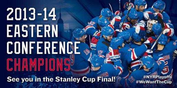 WE ARE GOING TO THE STANLEY CUP FINAL!!!!!! #NYRPlayoffs #WeWantTheCup #AboveAndBeyond http://t.co/K8idu5xV2Z