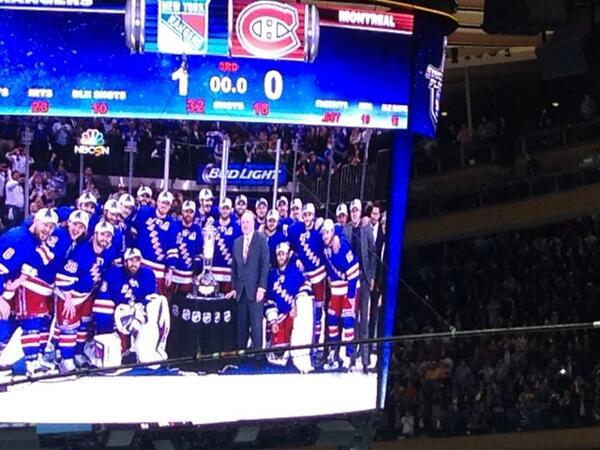 We did it!!!! #NYRPlayoffs #wewantthecup http://t.co/lhPR9o9U7q
