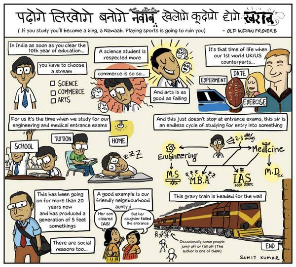 Webcomic on Indian education system by @SumitDrew http://t.co/guCVcSgjf6