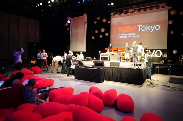 #TEDxTokyo stage is all set for tomorrow! Join our livestream from 10am JST. http://t.co/3d2dggJFkL http://t.co/7zL3zg9Jpx