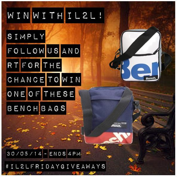 #IL2LFridayGiveaway time! RT & FOLLOW for your chance to win a Bench bag! Winner picked at 4pm - #goodluck #giveaway http://t.co/uox2AY51ce