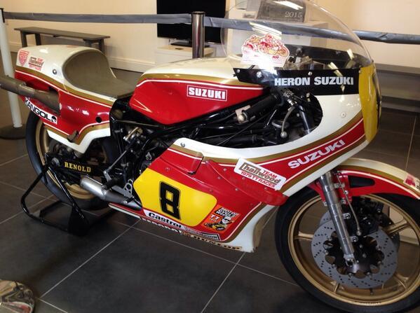 Mike Hailwood's 1979 TT winning Suzuki RG500.....A thing of beauty! http://t.co/1mQavcktBc