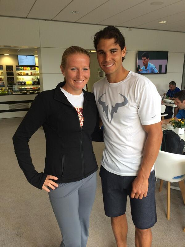I'm sure this will help my clay court game.#RG2014 #rafa #champion if you look closely Djoko photobombed our picture! http://t.co/edtd8HqP9x