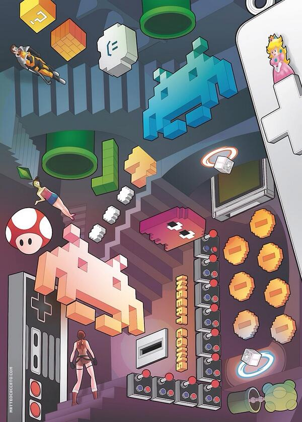 RT @Videogame_Art_: Lost in Videogames by Matteo Cuccato http://t.co/tdiGJ35Wga