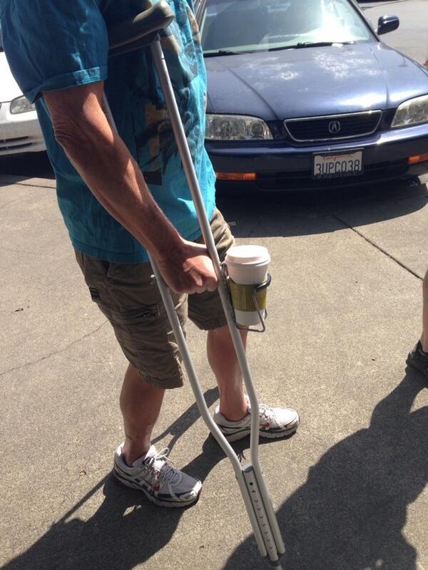 When life breaks your leg, improvise http://t.co/kcUwCXAiap