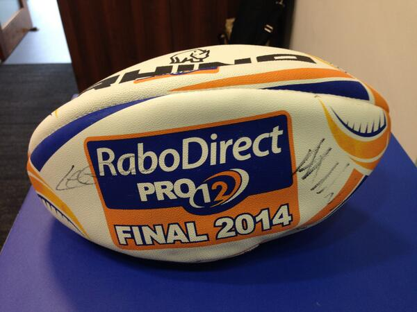 Simply RT & follow for chance to win 2014 #RaboPROFinal ball signed by Leo Cullen & Al Kellock. Expires 12 noon May31 http://t.co/PrxWyq0bt4