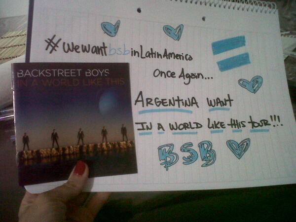 Celeste M (@CelesteMatuz): Volví a mi adolescencia con el cartel jaja #WeWantBSBInLatinAmerica @backstreetboys http://t.co/SapVWHXsqz