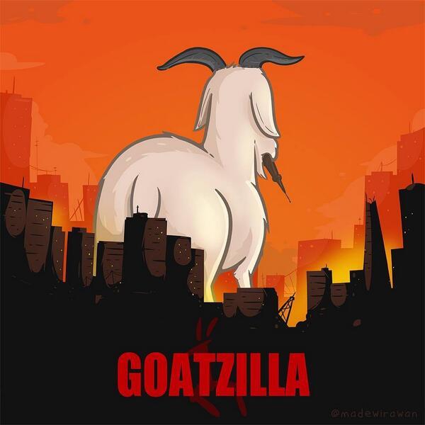 Goatzilla - http://t.co/1zq4Ah82de http://t.co/OeaV2Abhqa