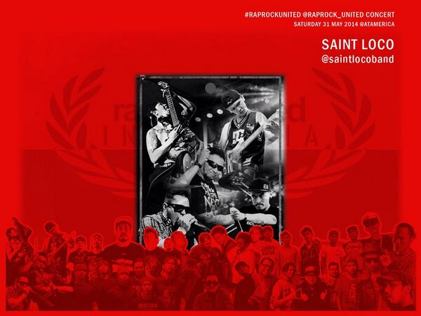 #Today @RAPROCK_UNITED #RRUCONCERT at @atamerica Pacific Place Mall, #JAKARTA 4pm - 8:30pm.FREE! with @saintlocoband http://t.co/oy1pcV4BCK