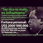 """Lo dijo Chavez, el más corrupto en la história de Venezuela: """"Ser Rico es inhumano"""" https://t.co/t1DKRxdY9k"""