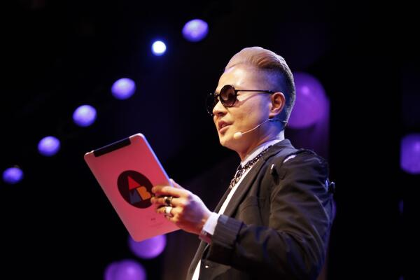 @VERBAL_AMBUSH journey to make it as a bilingual musician internationally left us inspired! #TEDxTokyo #VERBAL http://t.co/kPjmzyIH43